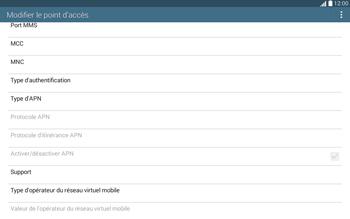 Samsung T535 Galaxy Tab 4 10.1 - Internet et roaming de données - Configuration manuelle - Étape 14