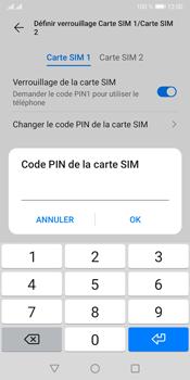 Huawei Y5P - Sécuriser votre mobile - Personnaliser le code PIN de votre carte SIM - Étape 10