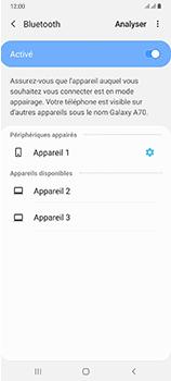 Samsung Galaxy A70 - Internet et connexion - Connexion avec un équipement multimédia via Bluetooth - Étape 10
