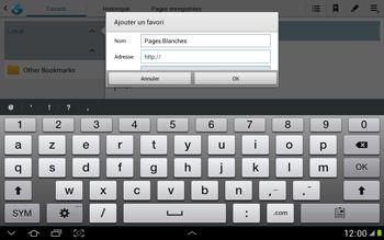Samsung N8000 Galaxy Note 10-1 - Internet - navigation sur Internet - Étape 7