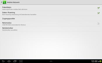 Samsung Galaxy Tab 2 10.1 - Internet und Datenroaming - Deaktivieren von Datenroaming - Schritt 6