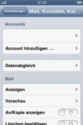 Apple iPhone 3GS - E-Mail - Manuelle Konfiguration - Schritt 4