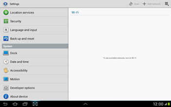 Samsung Galaxy Tab 2 10.1 - Software - Installing software updates - Step 5