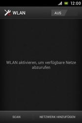 Sony Xperia Miro - WLAN - Manuelle Konfiguration - Schritt 5