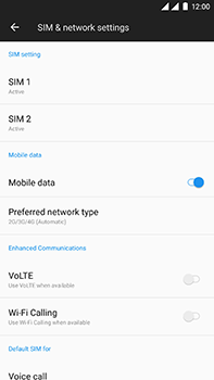 OnePlus 3 - Android Oreo - Network - Change networkmode - Step 6