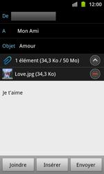 Samsung I8530 Galaxy Beam - E-mail - Envoi d