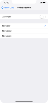 Apple iPhone XR - Network - Manual network selection - Step 8