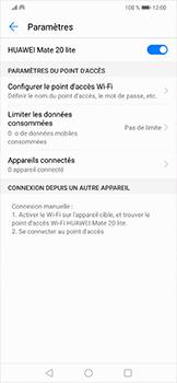 Huawei Mate 20 lite - Internet et connexion - Partager votre connexion en Wi-Fi - Étape 10