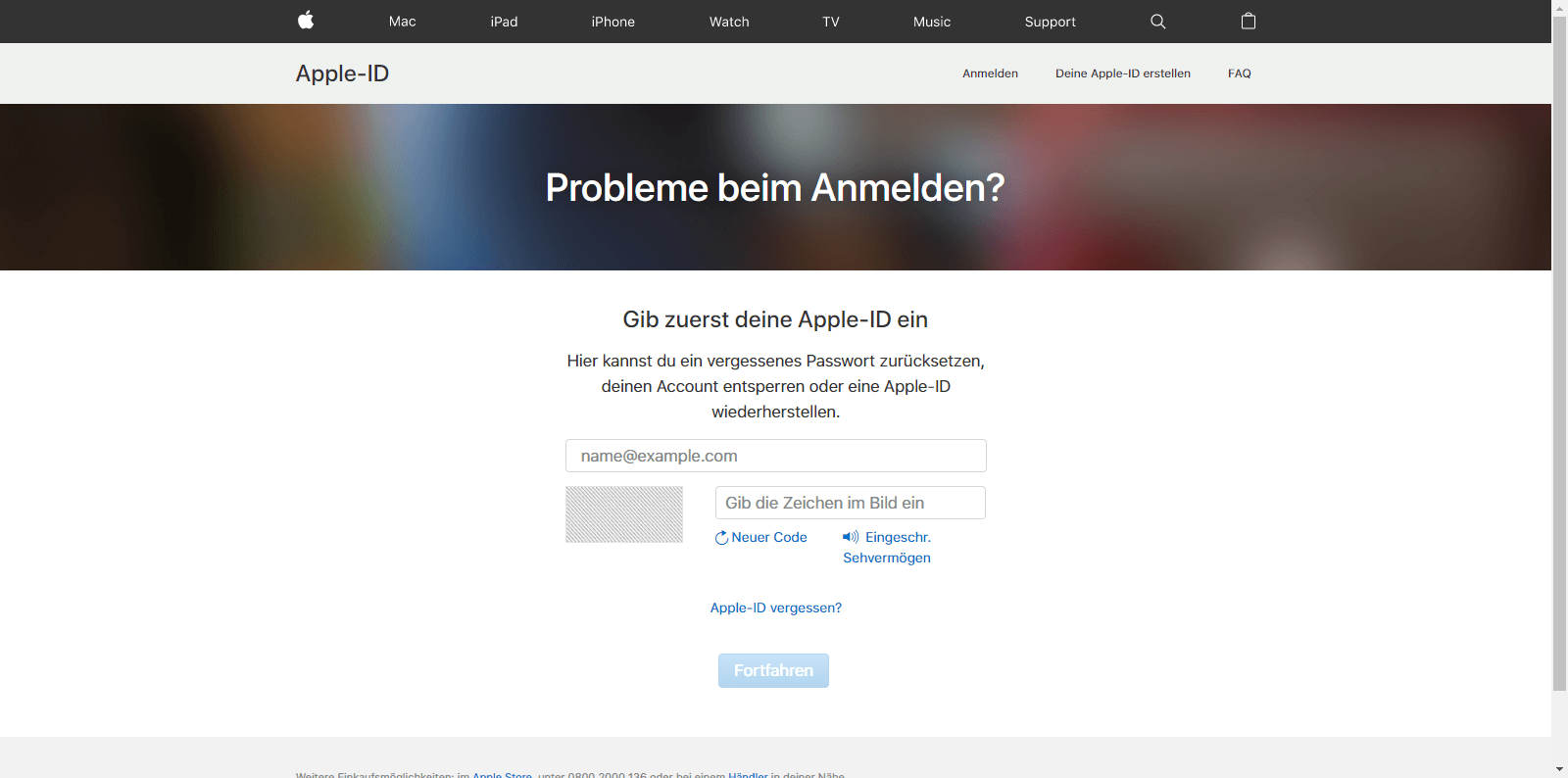 Apple iPhone 5 - Datenschutz und Sicherheit - Apple ID vergessen (Option 1) - 3 / 10