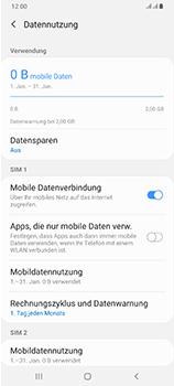 Samsung Galaxy A70 - Internet und Datenroaming - Prüfen, ob Datenkonnektivität aktiviert ist - Schritt 7