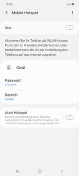 Samsung Galaxy Note 20 5G - WiFi - So aktivieren Sie einen WLAN-Hotspot - Schritt 7