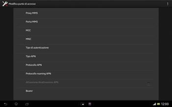Sony Xperia Tablet Z LTE - Internet e roaming dati - Configurazione manuale - Fase 13