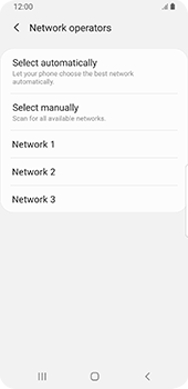 Samsung Galaxy S9 - Android Pie - Network - Manual network selection - Step 10