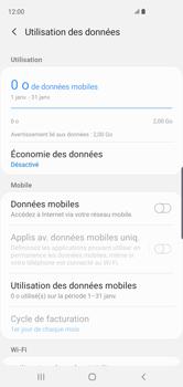 Samsung Galaxy S10 - Internet et roaming de données - Comment vérifier que la connexion des données est activée - Étape 6