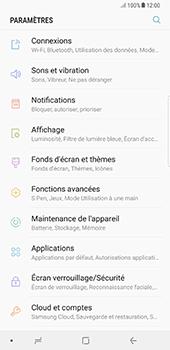 Samsung Galaxy Note 8 - Internet et connexion - Désactiver la connexion Internet - Étape 4