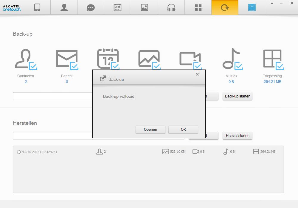 Alcatel Pixi 3 (8) - Software - Backup maken van je toestel - Stap 9