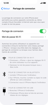 Apple iPhone X - iOS 13 - WiFi - Comment activer un point d'accès WiFi - Étape 8