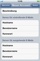 Apple iPhone 3GS - E-Mail - Konto einrichten - Schritt 11