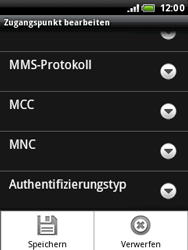 HTC Wildfire - MMS - Manuelle Konfiguration - 2 / 2