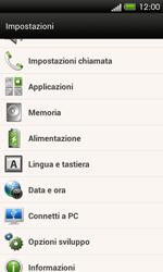 HTC One SV - Dispositivo - Ripristino delle impostazioni originali - Fase 5