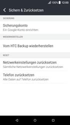 HTC One A9 - Android Nougat - Fehlerbehebung - Handy zurücksetzen - Schritt 7