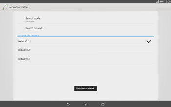 Sony Xperia Tablet Z2 LTE - Network - Manual network selection - Step 10