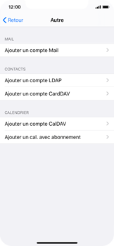 Apple iPhone X - iOS 13 - E-mail - configuration manuelle - Étape 6