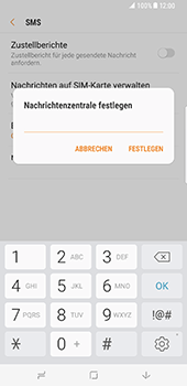 Samsung Galaxy S8 Plus - SMS - Manuelle Konfiguration - 9 / 11