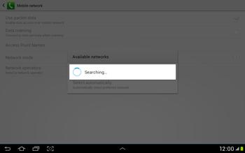 Samsung Galaxy Tab 2 10.1 - Network - Manual network selection - Step 7