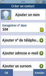 Samsung Wave 723 - Contact, Appels, SMS/MMS - Ajouter un contact - Étape 4