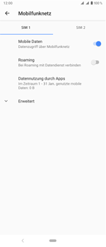 Sony Xperia 1 - Ausland - Im Ausland surfen – Datenroaming - Schritt 8