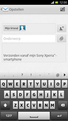 Sony LT28h Xperia ion - e-mail - hoe te versturen - stap 8