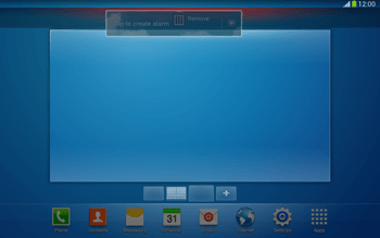 Samsung Galaxy Tab 3 10-1 LTE - Getting started - Installing widgets and applications on your start screen - Step 10