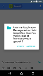 Sony Xperia XA (F3111) - Android Nougat - MMS - Envoi d