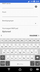 Sony Xperia X (F5121) - Android Nougat - E-mail - Account instellen (IMAP met SMTP-verificatie) - Stap 13