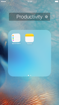 Apple iPhone 6s Plus - Getting started - personalising your Start screen - Step 7