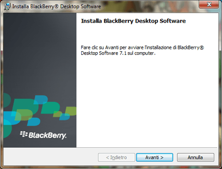 BlackBerry Q10 - Software - Installazione del software di sincronizzazione PC - Fase 5