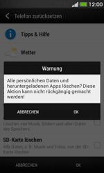 HTC Desire 500 - Fehlerbehebung - Handy zurücksetzen - 2 / 2