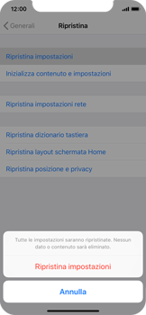 Apple iPhone XS - Dispositivo - Ripristino delle impostazioni originali - Fase 7
