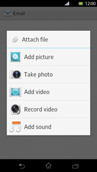 Sony LT30p Xperia T - E-mail - Sending emails - Step 11