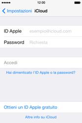 Apple iPhone 4S iOS 7 - Applicazioni - Configurazione del servizio Apple iCloud - Fase 4