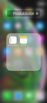 Apple iPhone XS Max - Startanleitung - Personalisieren der Startseite - Schritt 8