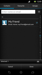 Sony LT30p Xperia T - E-mail - Sending emails - Step 7