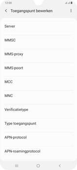Samsung Galaxy A70 - Internet - handmatig instellen - Stap 17