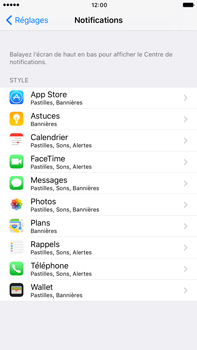 Apple Apple iPhone 6s Plus iOS 10 - iOS features - Personnaliser les notifications - Étape 4