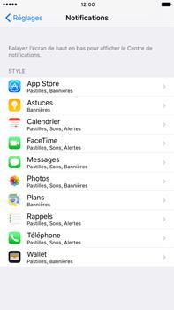 Apple Apple iPhone 6 Plus iOS 10 - iOS features - Personnaliser les notifications - Étape 4