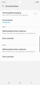 Samsung Galaxy Note 10 - sms - handmatig instellen - stap 10