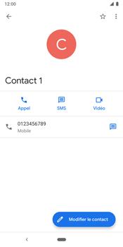 Google Pixel 3 - Contact, Appels, SMS/MMS - Ajouter un contact - Étape 9