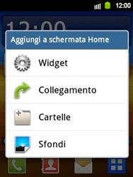 Samsung Galaxy Y - Operazioni iniziali - Installazione di widget e applicazioni nella schermata iniziale - Fase 3