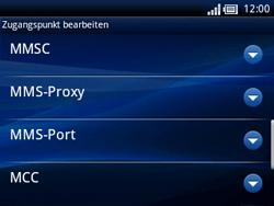 Sony Ericsson Xperia X10 Mini Pro - MMS - Manuelle Konfiguration - Schritt 11